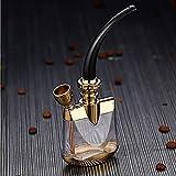 WEIZI Pipa per Tabacco Portatile Pipa per Sigaretta con Narghilè Set per Pipa ad Acqua, Pipa ad Acqua Arabian braciere Pipe Pipe Pot Pot Porta Sigarette Accessori Filtro (Oro)