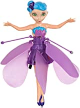 LilPals – Flying Flower Fairy Doll - Flying Princess Fairy Drone Doll with Infrared Induction Control (Purple)
