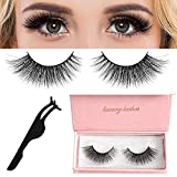 False Eyelashes, 3D Mink Fake Eyelashes, with a Lashes Applicator, Fluffy and Universal for All Eyes, WONTECHMI Non-Magnetic, Natural Look Eyelashes Enhancer, Reusable, 100% Handmade(density)