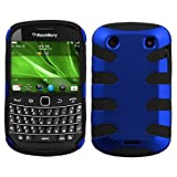 Titanium Dr Blue/Black Fishbone Phone Protector Cover for RIM BlackBerry 9900 (Bold), RIM BlackBerry 9930 (Bold)