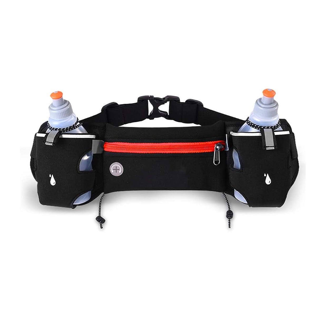 戦争ブランクそれにもかかわらずTcaijing ウエストバッグ、ウエストポーチ女性男性大容量ヘッドフォンホール弾性ウエストパックサイクリングスポーツバッグ