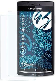 Bruni Skärmskydd är kompatibel med Sony-Ericsson Xperia arc S Film, kristallklart Skyddsfilm (2X)