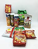 APERIBOX Pringles Original, Paprika, Hot&Spicy + Patatine San Carlo +Nic Nac's+ Cameo Snack Friend Party + Movida Arachidi XXL