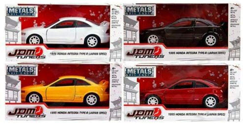 Jada New DIECAST Toys CAR 1 32 WINDOW BOX  Metals  JDM Tuners  1995 Honda Integra TypeR (Japan SPEC) (RED, Yellow, Black, White) Set of 4 30451WA1
