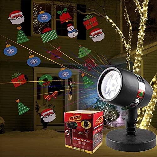 ABCDJHH Luces de proyección de Navidad para Halloween, Proyector LED de Navidad,...
