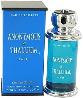 Thallium Anonymous Cologne By Yves De Sistelle 3.3 oz Eau De Toilette Spray For Men - 100% AUTHENTIC by Yves De Sistelle