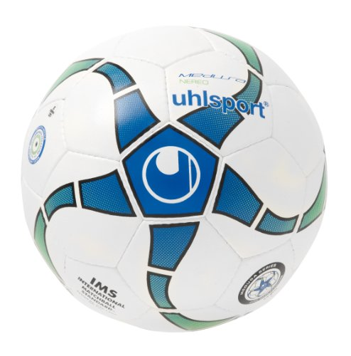 uhlsport Fußball Medusa Nereo, Weiß/Royal/Fluorgrün/Schw, 4, 100152401
