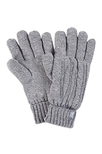Ladies 1 Pair Heat Holders 2.3 Tog Heatweaver Yarn Gloves - Grey S/M