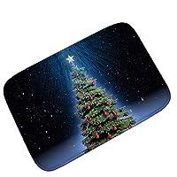 クリスマスカーペットフロアマットリビングルームのドアマットフロアマットホームデコレーション バスルーム/玄関/キッチン/洗面所/ベッドルームに適用 (Color : Type 3, Size : 50*80cm)