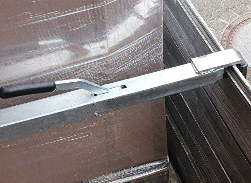 2 x Stahl-4-Kant-Spannbrett/Klemmbrett/Zwischenwandverschluss, 1,92-2,72 m