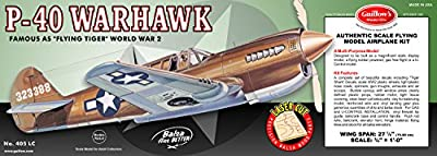 Guillow's P-40 Warhawk Laser Cut Model Kit from Flat River Group