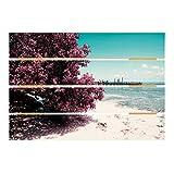 Bilderwelten Cuadro de Madera - Paradise Beach Isla Mujeres 48x70cm