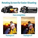 Videokamera Camcorder 2.7K 42MP Videokamera 18X Zoom Camcorder Full HD mit Drehbarem 3,0-Zoll-Bildschirm Videokamera für YouTube Fernbedienung, Webcam - 5