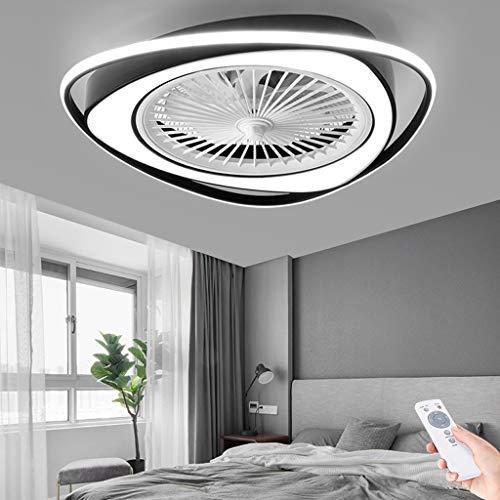 LED Luz Ventilador Invisible Moderno Ventilador De Techo Con Lámpara Ultra Silencioso Luz De 3 Bandas Velocidad De Viento Ajustable Con Control Remoto Dormitorio Comedor Plafón Iluminación 38W