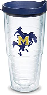 Tervis 1079584 McNeese State Cowboys Logo Tumbler with Emblem and Navy Lid 24oz, Clear