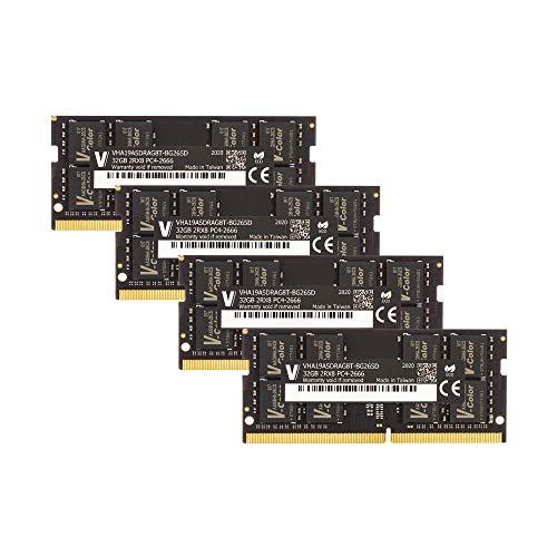 v-Color 128GB Kit (4 x32GB) 2666MHz (PC4-21300) DDR4 Memory Module for Apple iMac 2020 & 2019 Apple iMac 27' w/Retina 5K Display CL19 1.2V SO-DIMM MAC RAM Upgrade (TN432G26D819Q-VC)