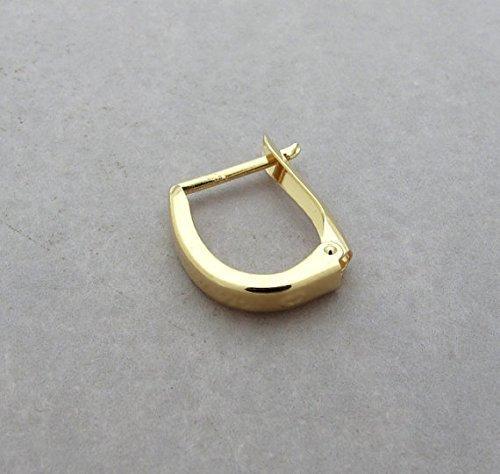 Men/'s Single Hoop Earring  Choose Gauge  Unisex