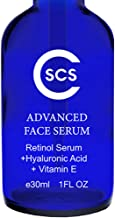 CSCS Anti Aging 2.5% Retinol Serum with Hyaluronic Acid & Vitamin E - Rapid Collagen Booster for Firming & Brightening Skin Complexion, Reducing Wrinkles, Fine Lines, Dark Spots, Sun Damage (1 oz)