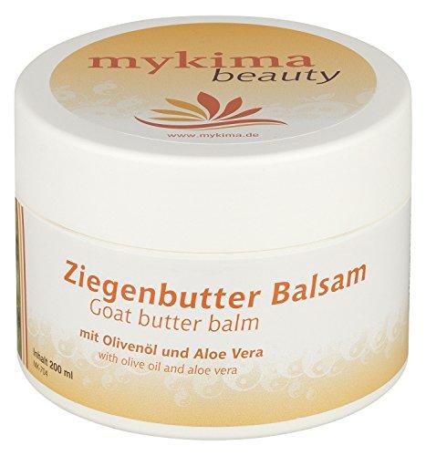 mykima Ziegenbutter Balsam mit Olivenöl und Aloe Vera 200 ml, bei trockener und gereizter Haut | speziell auch für Babys und Kleinkinder geeignet!