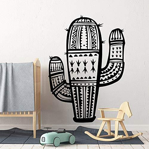 hetingyue Cartoon Nordic Geometrische Wandaufkleber Schlafzimmer Spielzimmer Großen Kaktus Zoo Pflanze Krokus Vinyl Wandtattoo Schlafzimmer 45x32 cm