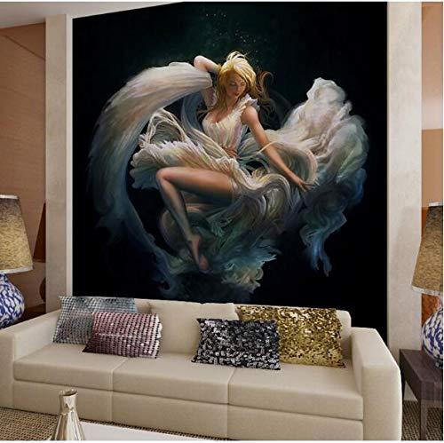 Wallpaper mural Ragazza persone foto murale sfondi 3D per soggiorno camera da letto pittura a olio Non tessuto Wall Art Decor sfondi 3d per parete 250(W) X175(H) Cm