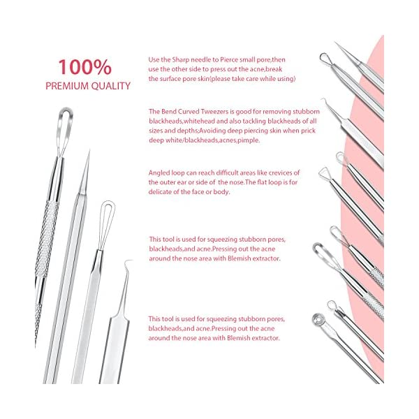 Beauty Shopping JPNK Pink&Black Blackhead Remover Pimple Comedone Extractor Tool – Treatment