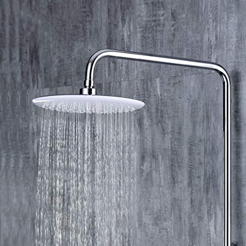 SISHUINIANHUA Verchromtes Messing Badezimmer Regendusche Set System Wandmontage Mischwasser-Duscharmatur mit Haken