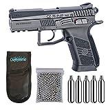 Outletdelocio. Pistola perdigon ASG16726 CZ 75 P-07 Duty + Funda Portabombonas + Balines + Bombonas co2. 23054/29318/38123