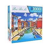 Toyvian 1000 Stück Puzzles Große Intellektuelle Pädagogische Spiel Haus Kunstprojekt für Kinder Erwachsene Teenager Studenten Party Bevorzugen Wohnwand Dekor Insel