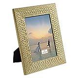 TERESA'S COLLECTIONS Marcos de Foto de 13x18cm, Portafotos Marco de Cuadros de Plástico Dorado Oro,...