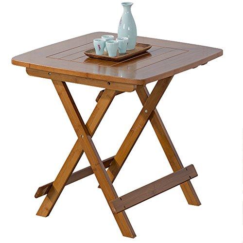LVZAIXI Table de Bistro en Bois d'acacia, café, Table de Casse-croûte Solide en Bois pré-huilé Marron (Couleur : 2)