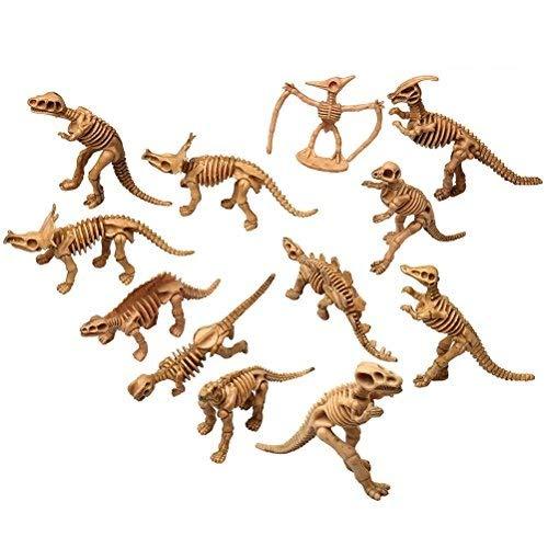 Kuou Dinosaurier-Skelett-Figuren für Kinder, Dinosaurier-Spielzeug, Dinosaurier-Knochen, 12 Stück