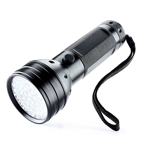 Paracity UV Lampe de poche lumière noire Ultra Violet 51 LED Lampe de poche pour animal domestique d'urine et détecteur de taches, DE trouver les taches sur les vêtements, moquettes ou Tapis, Sol