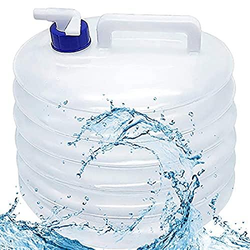 YDTX BidóN Agua,Cubo de Agua Plegable, contenedor de Agua portátil y Plegable de 3L/5L/10L/15L, para Acampar, Senderismo, Pesca, Escalada, Picnic de Viaje, Uso al Aire libre-15L