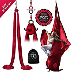 Silk Swings are made of ONE 11 YARDS piece of 40 Denier Tricot (similar to the Cirque du Soleil Silks) - this nylon fabric is extremely STRONG & FLEXIBLE! Our LOW-MEDIUM STRETCH makes it easier to do drops and doesn't make it impossible to climb. – W...