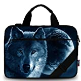 iColor 12' 13.3 inch Laptop Shoulder Bag Case 11.6'Canvas Computer Tablet Carrying Sleeve 13' Notebook Briefcase For Surface Pro 5 Acer Asus MacBook Samsung Chromebook(Cool Wolf)