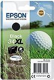 Epson 34 Serie Pallina da Golf, Cartuccia Originale Getto d'Inchiostro DURABrite Ultra, Formato XL, Nero, con Amazon Dash Replenishment Ready