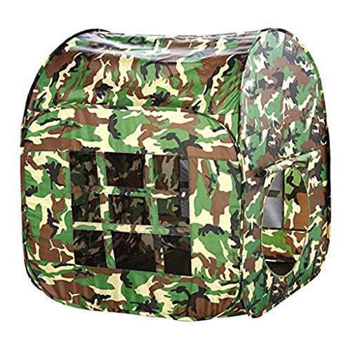Kinderspielzelt Kinder Tarnung Armee Spielzeug Zelt Großes Faltbares Lagerhaus Indoor Outdoor Spiel Kids Gaming Spielzeug Outdoor Spielhaus Zelt Camouflage Design Gartenspielzeug Für Mädchen Jungen