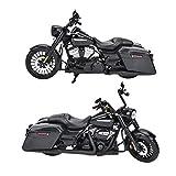 1:12 Motocicleta Modelo, negro Aleación Motor Ciclo Simulación Miniatura Juguete Muebles Decoración Colección Decoración Modelo