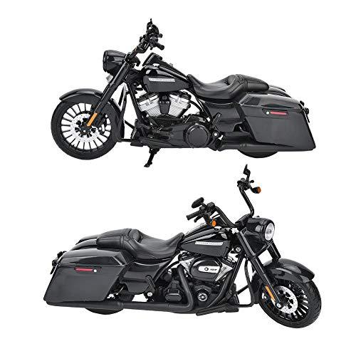 Tnfeeon 1:12 Maisto Simulación Motocicleta Modelo Aleación Negro Motor Ciclo Simulación Juguete en Miniatura Regalos de colección