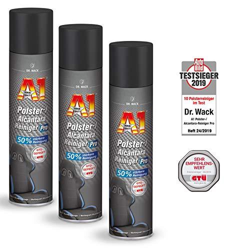 ILODA 3X 400ml Dr. Wack A1 Polster-/Alcantara Reiniger Pro, Polsterreiniger für Autositze, Kfz Sitzreiniger, Polsterschaum, Flecken und Gerüche aus Polstern entfernen