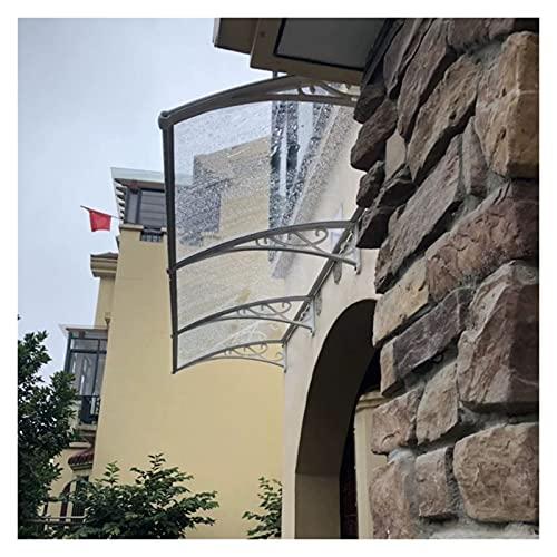 Tejadillo De Protección, Marquesina para Puertas Y Ventanas Resistencia Al Clima Cubierta del Patio De La Puerta Delantera Tablero De Policarbonato Cubierta De Sombra De Protección UV MAHFEI