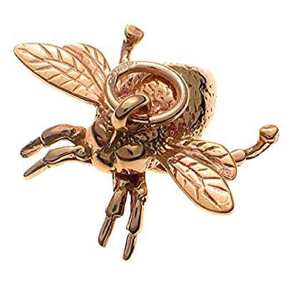 9ct Solid Gold Queen Bee Charm Pendant. Handmade by Welded Bliss