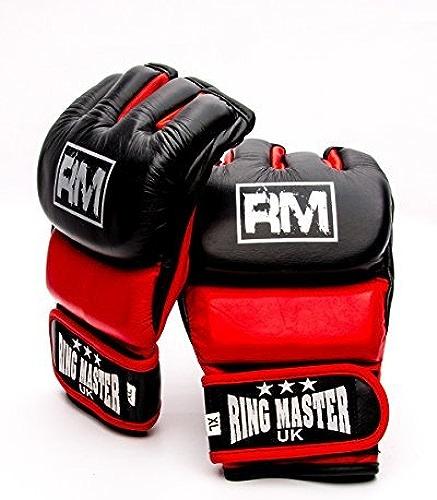 sacueMasterUK Gants de MMA Grappling UFC Gants de Cuir véritable Punch Fight