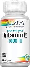 Solaray Vitamin E, d-Alpha Tocopherol 1000IU | for Healthy Cardiac Function, Antioxidant Activity & Skin Health Support | ...