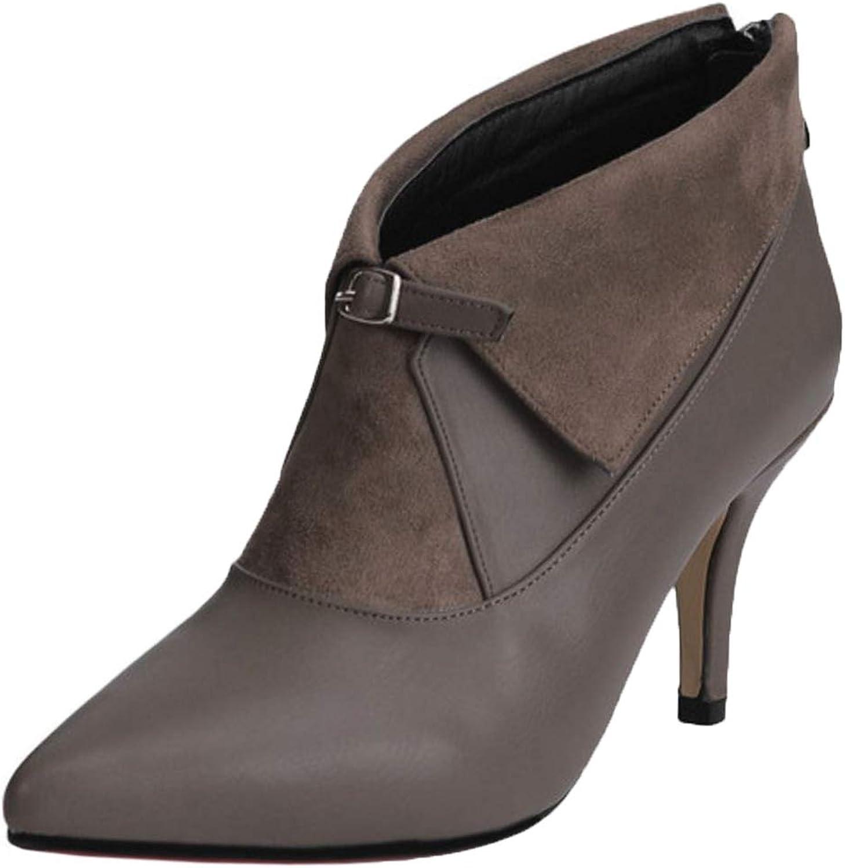 AicciAizzi Women Pointed Toe Ankle Boots Zip