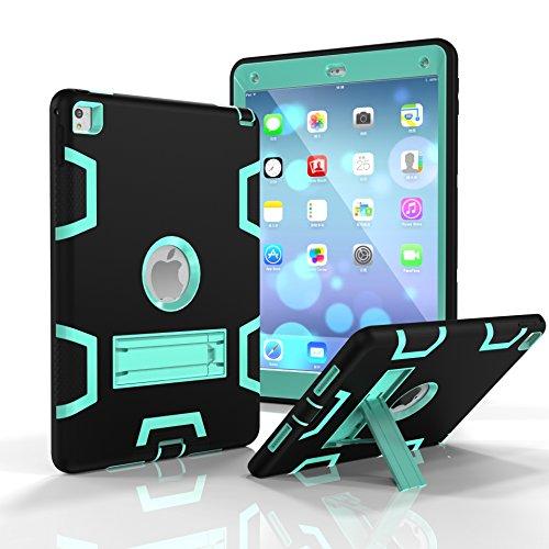 Funda para iPad Air 2, iPad 6, Dooge de Tres Capas de policarbonato y Silicona Armor Defender Resistente a los Golpes y con función Atril para Apple iPad Air 2/iPad 6 (Modelo 2014)