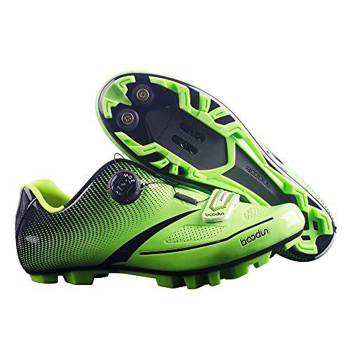 JINGJIE Los Zapatos De Ciclismo De Montaña, Zapatos Ligeros De Bloqueo Zapatos Antideslizantes Respirables De Ciclismo Indoor De Trayecto Y MTB Compatible,B,45EU