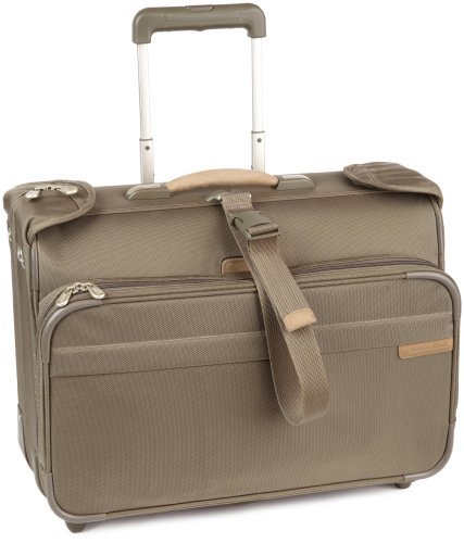 Best Buy! Briggs & Riley Baseline-Softside 2-Wheel Garment Bag, Olive, 14x21x8.5