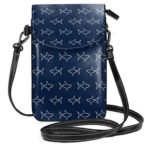 Bolso de mano con diseño de tiburón, color blanco